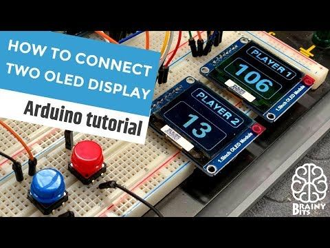 Two Is Better Than One Using Multiple Displays With An Arduino Youtube Arduino Arduino Display Arduino Lcd