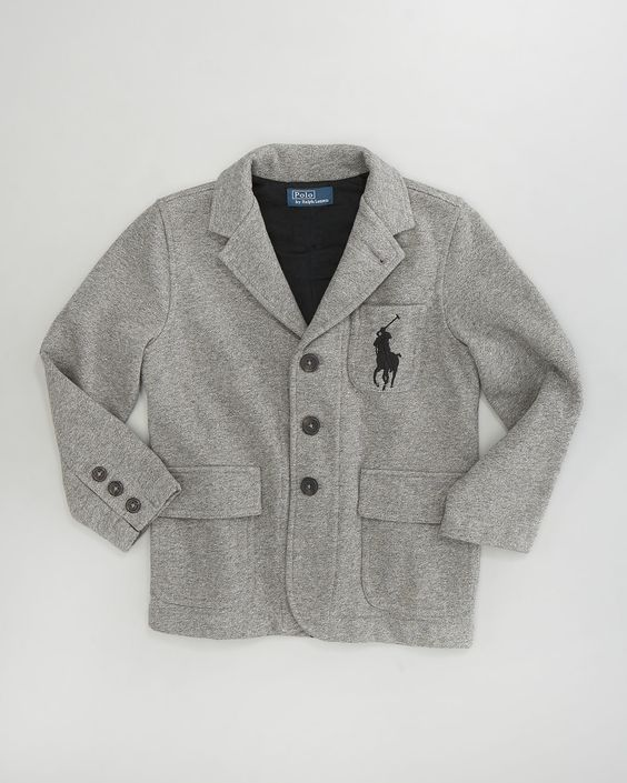 Ralph Lauren Childrenswear Jersey Big Pony Rugby Blazer