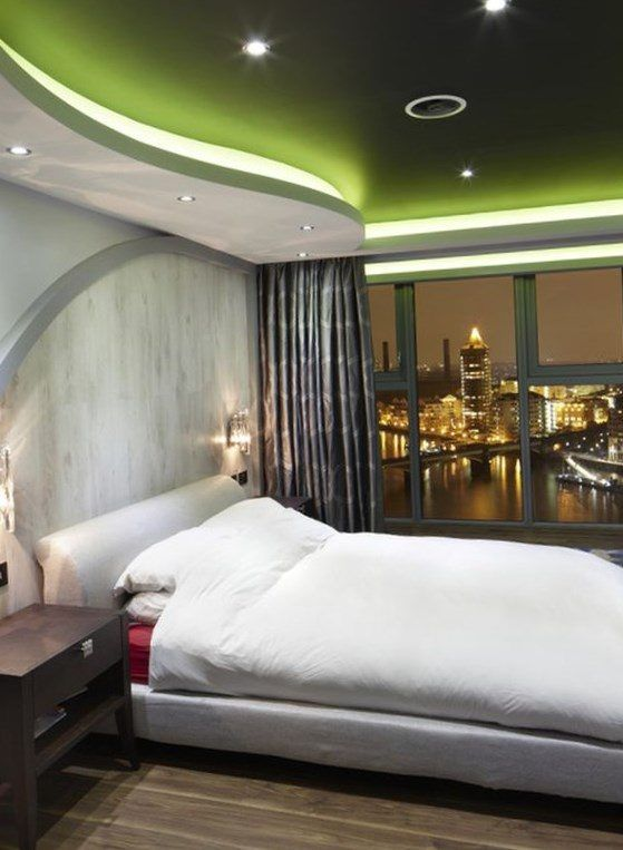 Futuristic-styled contemporary bedroom design with a stunning ceiling  Bedroom Ceiling Design Ideas Picture 7 Home Design Ideas Top tips for  bedroom ...
