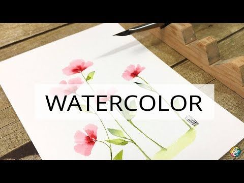 How To Use A Triangle Brush For One Stroke Watercolor Painting