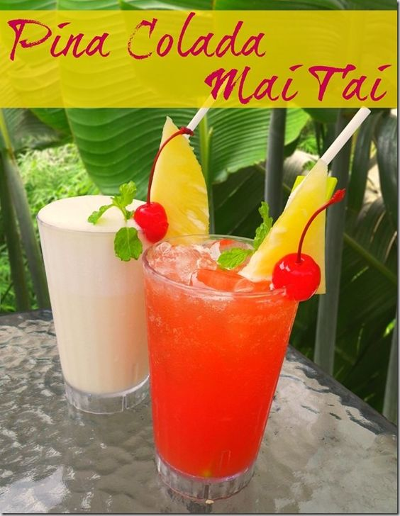 Classic Pina Colada and Mai Tai Cocktail Recipes - Feel like your on the beach no matter where you are! | RobynsOnlineWorld.com