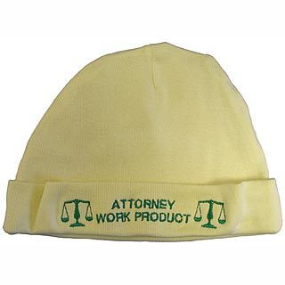 Gift for the Lawyer's Baby - Attorney Work Product Baby Cap