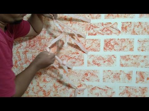 3d Wall Decoration Brick Effect Cat Tembok Kreatif 3d Cat Kamar Tidur Motif Bata 3d Youtube Tidur Kreatif Kamar Tidur