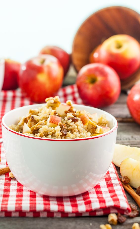 Apple Cinnamon Quinoa Cereal | Protein, Quinoa flakes recipes and ...