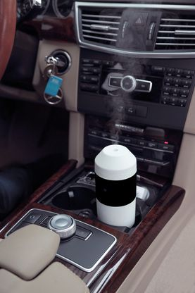 Travel Car Diffuser in Black and White. Includes wall and car power cords. Awesome travel diffuser!