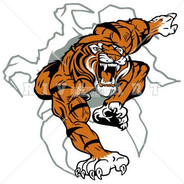 Mascot Clipart Image of A Tiger Lacrosse Player http://www ...