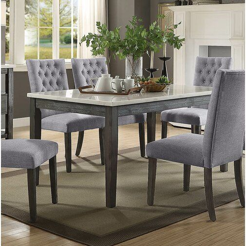 Dining Table Marble Oak Sets, Grey Dining Room Set