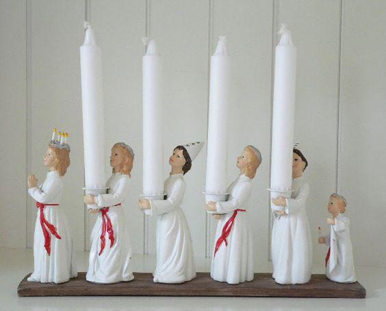 Santa Lucia procession candle holders