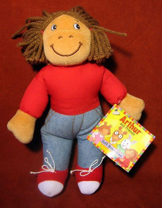 Francine Arthur Marc Brown Plush 8 Quot Stuffed Bean Bag Doll