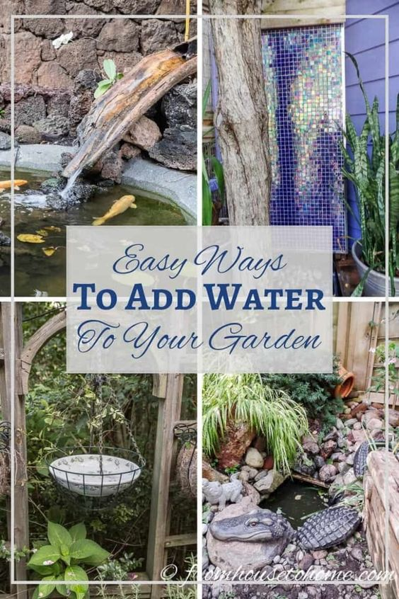 Easy Ways To Add Water To Your Garden - Gardening @ From House To Home