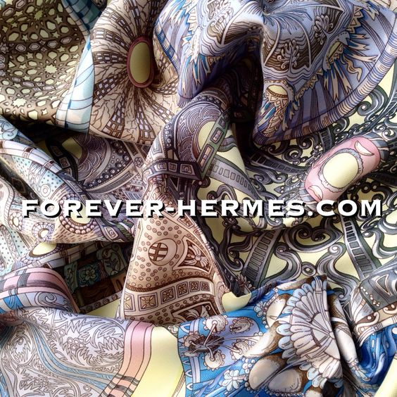 In a bid to unify (?) all religions, Hermes Paris has French Artist Annie Faivre design this stunning silk Scarf titled Les Domes Celestes now in store http://forever-hermes.com #ForeverHermes and featuring the delicate decorations on the ceilings of the #celestial #dome of mainstream religions. All in serene grace, on the same #HermesCarre the Christian Judaism Islam symbols of love and #peace on Earth #HermesParis #Islamic #muslim #DavidsStar #Catholic #Bahai #Hinduism