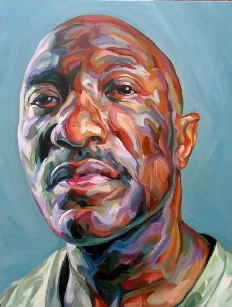 Archive  Paul Wright - Paul Wright  Head of a Proud Man - Oil on canvas