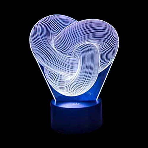 Ornerx Abstract Knot 3d Illusion Lamp Led Night Light Hom Https