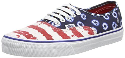 Vans Authentic, Unisex-Erwachsene Sneakers, Mehrfarbig (dyed Dots & Stripes/blue/red), 40 EU - http://on-line-kaufen.de/vans/40-eu-vans-authentic-unisex-erwachsene-sneakers-61