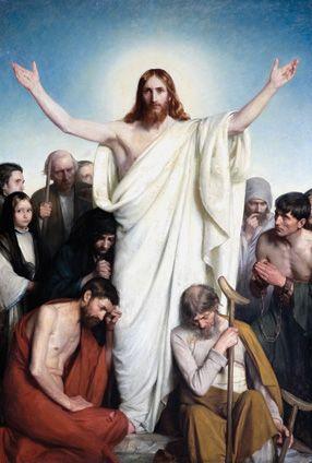 Carl Bloch: The Master's Hand - Christus Consolator 1884