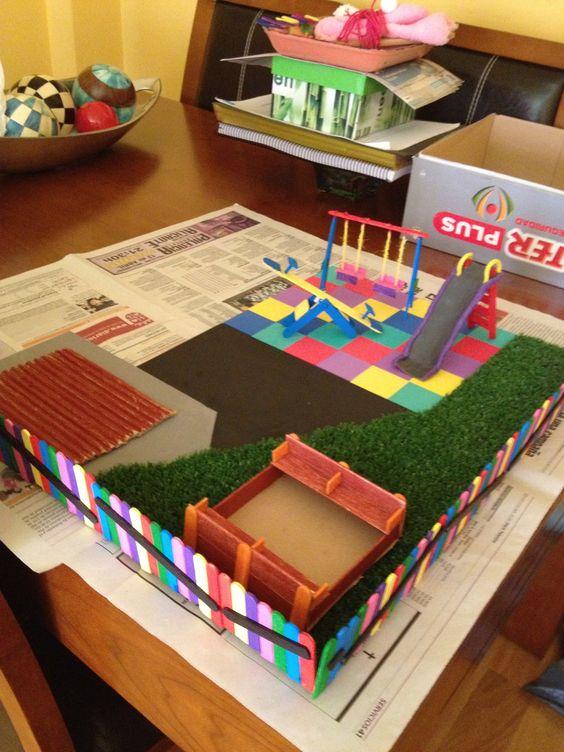 Maqueta de un parque infantil maquetas pinterest for Como hacer mi casa en 3d