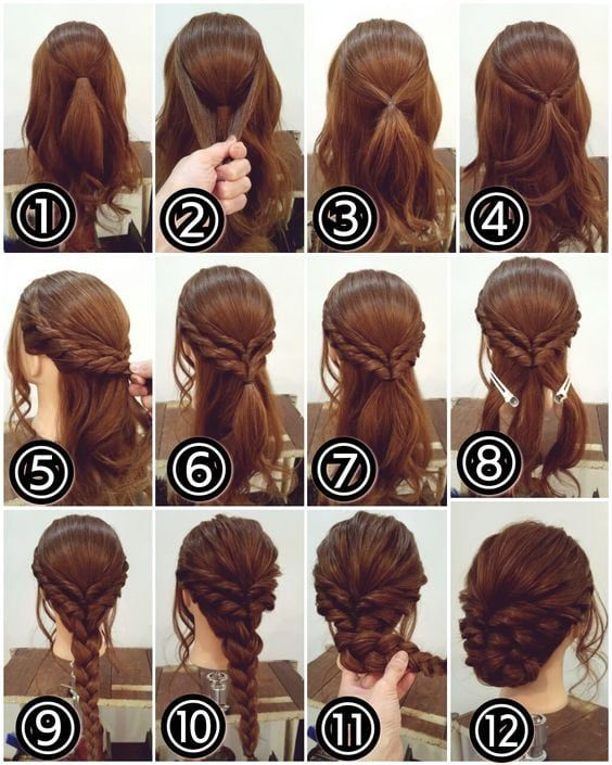 Tutorial For Braid Hairstyle Medium Hair Pinterest Hair Long Hair Styles Medium Hair Styles