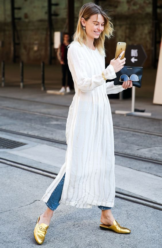 3 InStyle Editors Reveal How to Wear a Dress Over Pants from InStyle.com
