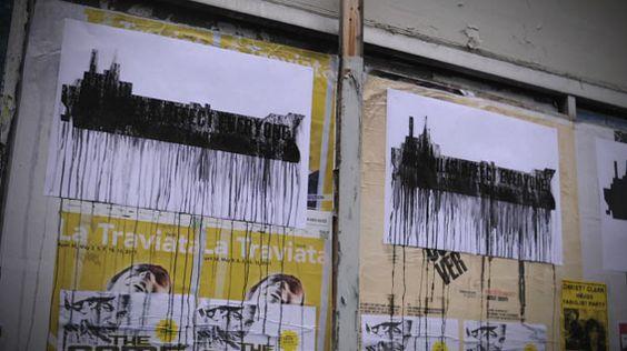 Des affiches anti-pétroliers qui «coulent» au contact de la pluie
