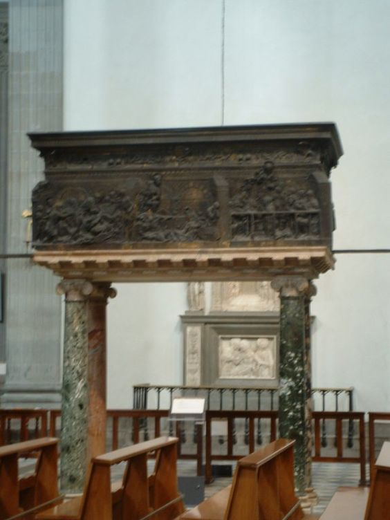 Donatello - Pulpito della Resurrezione - dopo il 1460 - bronzo - Basilica di San Lorenzo, Firenze