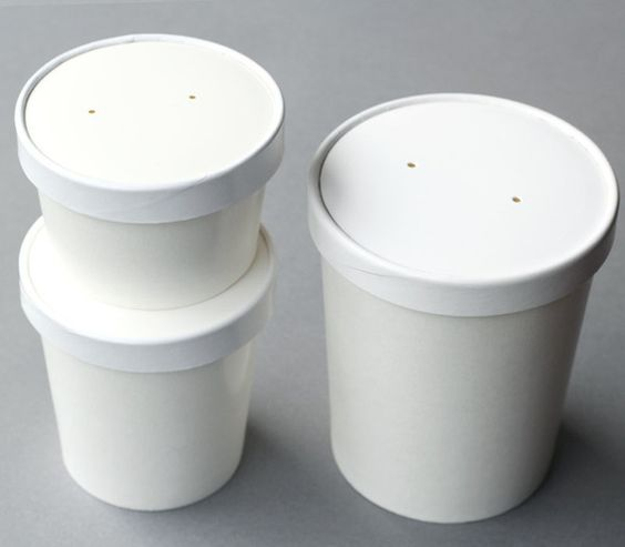 Our small take out containers are perfect for food gifts as well as packaging party favors and presents. 8 ounce white paper soup or ice cream containers.