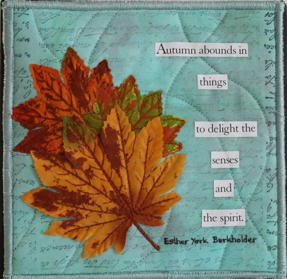 Autumn Bounds $70 (includes shipping) - 6 inches square Textile attached to canvas frame by Dale Anne Potter.