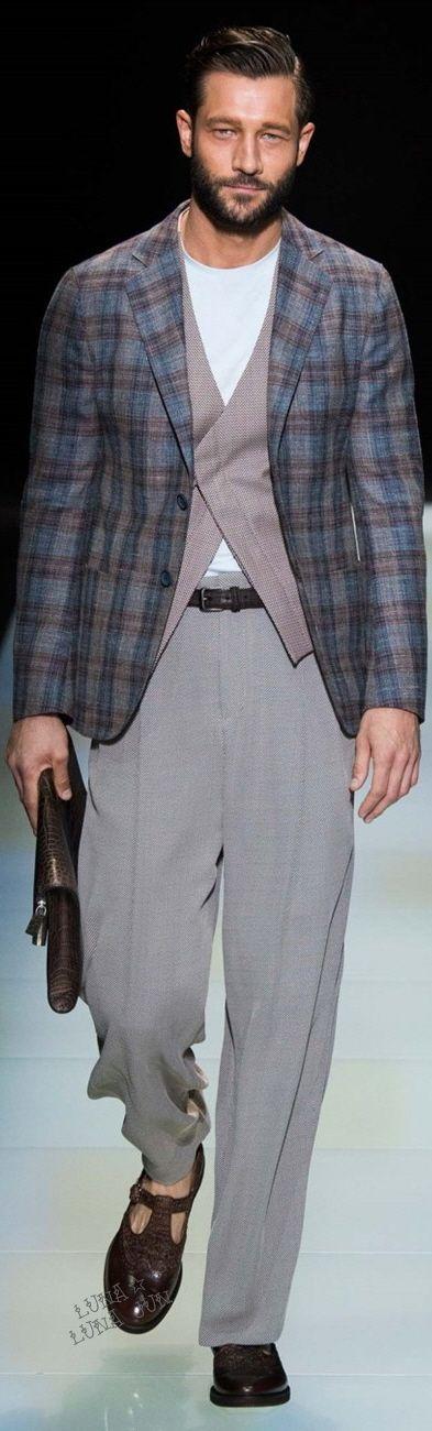 Giorgio Armani Spring 2016 Menswear | Men's Fashion | Moda Masculina | Shop at designerclothingfans.com