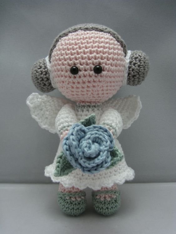 Amigurumi Flower Pattern Free : Flower Angel (Instant download Amigurumi doll crochet ...