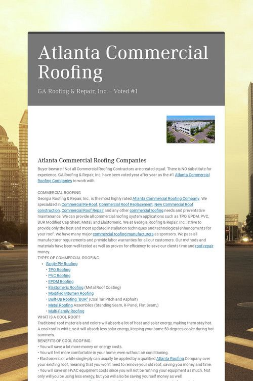 Atlanta Commercial Roofing Commercial Roofing Roofing Roofing Companies