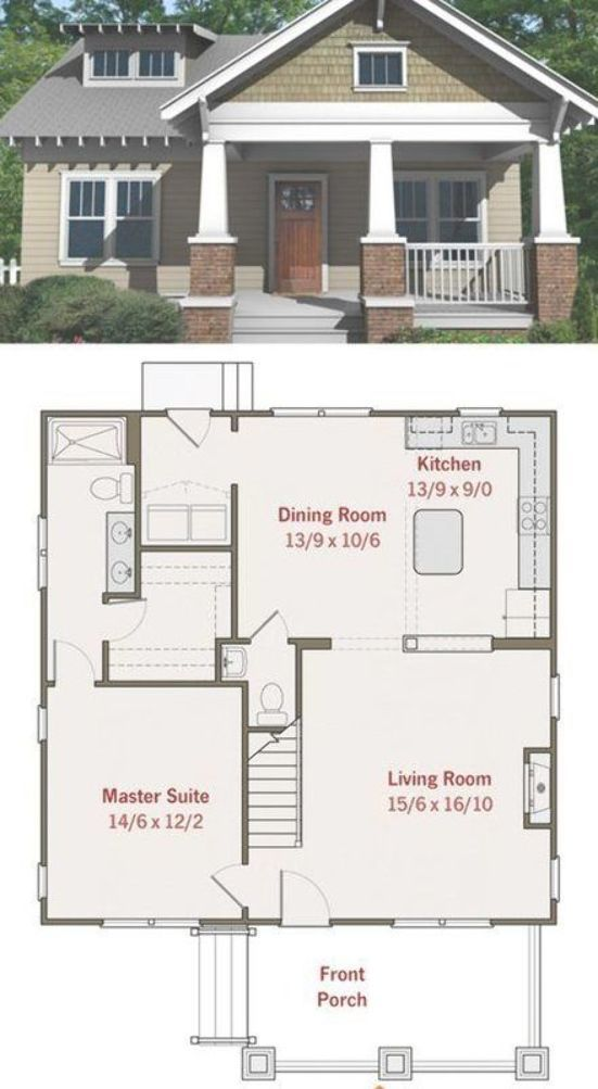 Pin By Marylyn Millard On Tiny Homes Beautiful House Plans Bungalow Floor Plans Craftsman Bungalow Interior