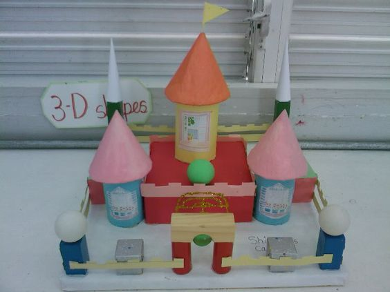 Working With 3d Shapes Make A Castle Using 3 D Shapes