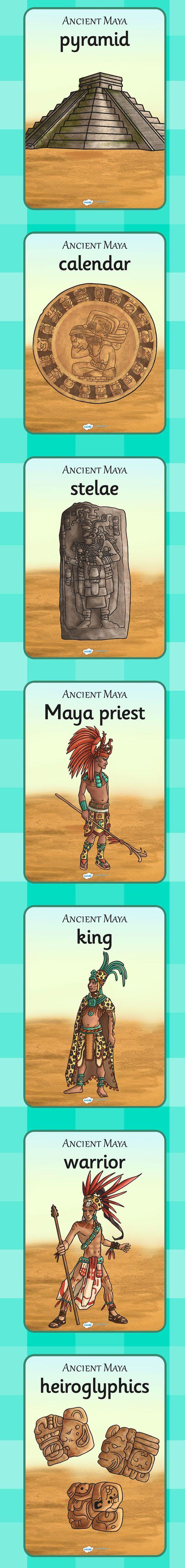 Calendar Ideas Ks2 : Ks mayan civilization display posters history