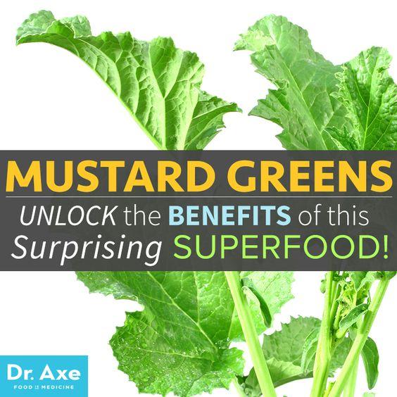 Mustard Greens http://www.draxe.com #health #holistic #natural
