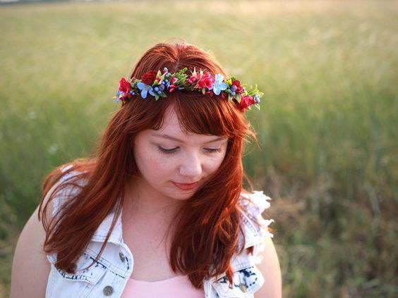 Halbes Blumenkranz, Blumenkrone von Magaela auf DaWanda.com