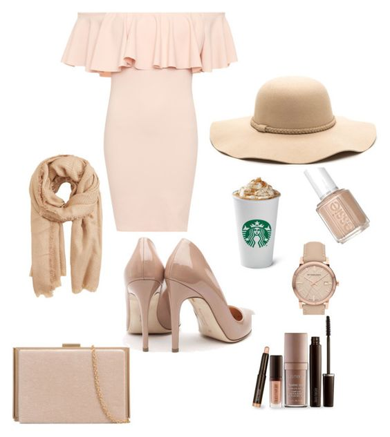 """""""A summer set"""" by miss-igolochka ❤ liked on Polyvore featuring WearAll, Rupert Sanderson, Burberry, Laura Mercier and MANGO"""