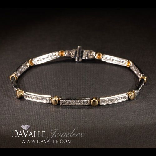 14 kt two tone 1.10 total weight diamond bracelet (140-11663)