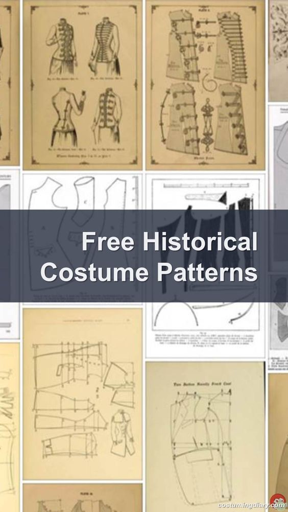 Free Historical Costume Patterns: A list of free historical costume patterns including medieval, Elizabethan and Victorian patterns.