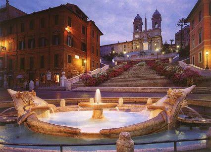 """Galleria Piziarte - Google+www.piziarte.net Piazza di Spagna, Roma La fontana del Bernini """"La Barcaccia"""" via +reny ferrari"""