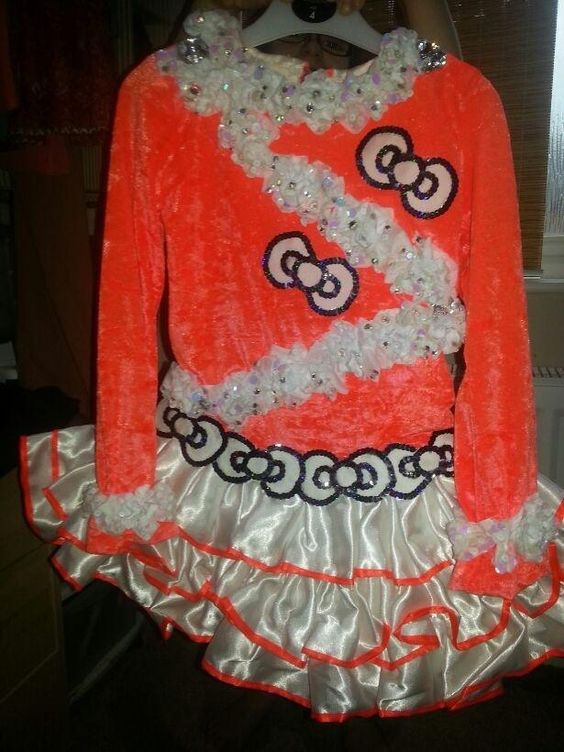 Hello Kitty Solo Dress 100 Dance Net Costume Dress Irish Dance Costumes