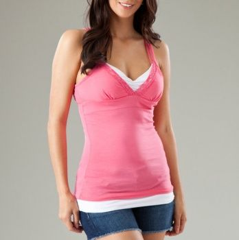 Double-Layered Bra Tank with Lace Trim