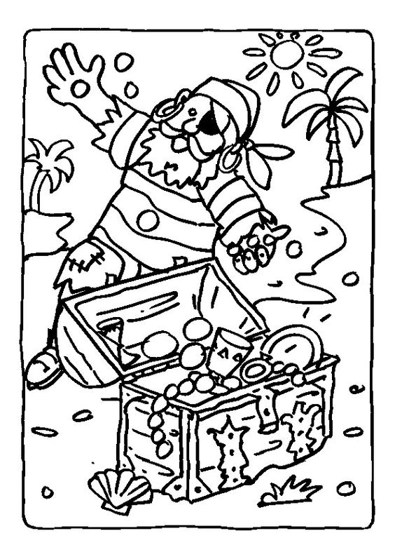L image colorier d un vieux pirate chou sur une le et - Dessin pirates ...