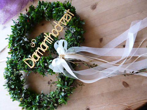 Goldene Hochzeit Diamanthochzeit Turkranz By Uschi27 Geben Sie Ihren Gasten Schon An Der Tur Ein Diamantene Hochzeit Goldene Hochzeit Goldene Hochzeit Deko