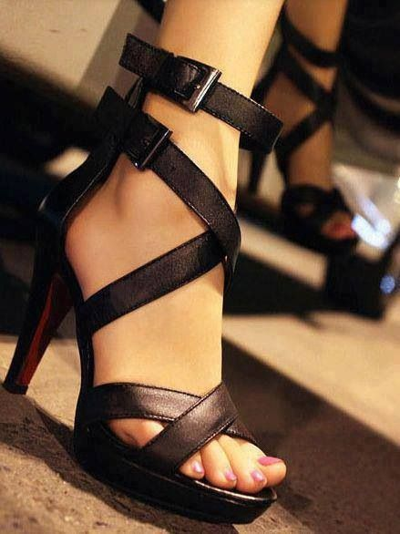 Chocolate brown strappy heels. | Sweet Kicks | Pinterest | Shoes ...