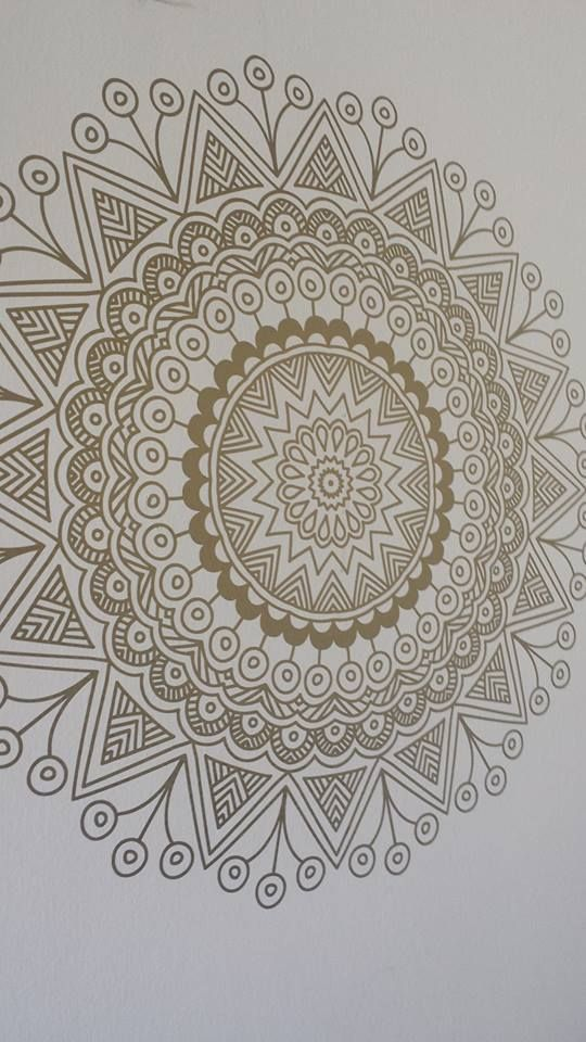 Mandala vinilo color oro mandalas pinterest mandalas for Vinilos pared mandalas