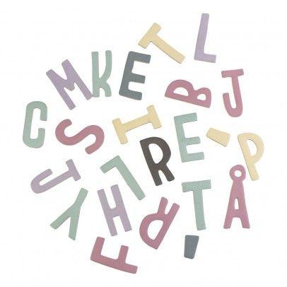Girl's Magnetic Wooden Letters Set Bunt  Sebra