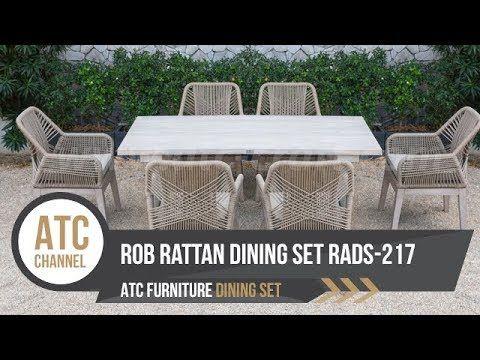 Rope Fibre Rattan Garden Dining Set