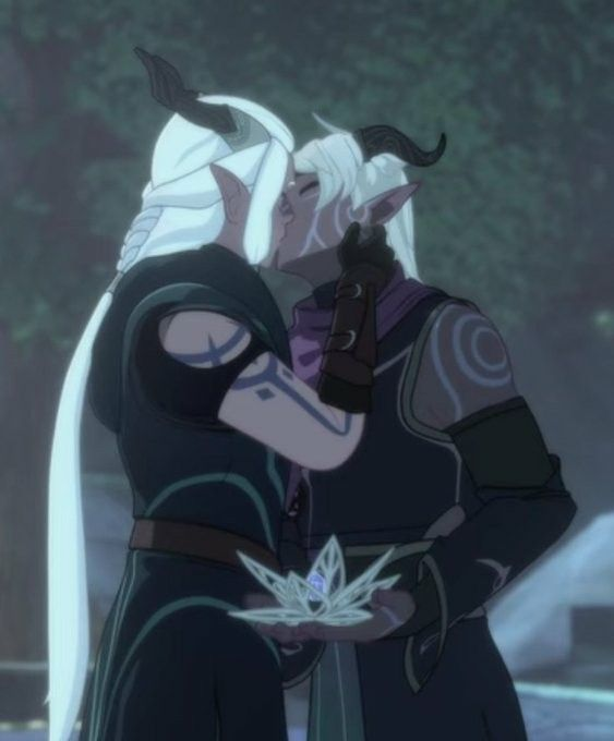 Runaan and his husband Ethari from The Dragon Prince season 3 ...