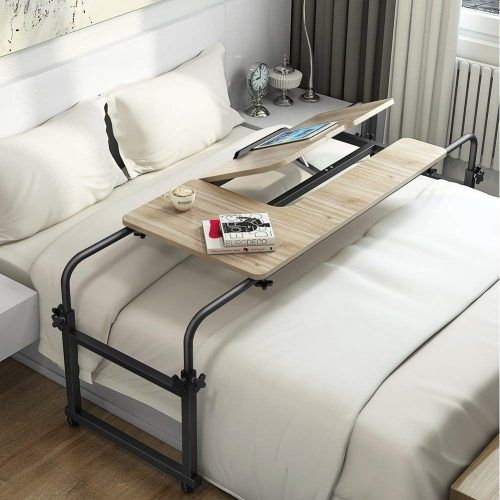 Best Overbed Tables In 2020 Reviews And Buying Guide Bed Table On Wheels Overbed Table Bed Table