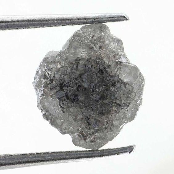 NATURAL ROUGH MIXED AFRICAN DIAMOND 1.66 CARAT Grayish  COLOR