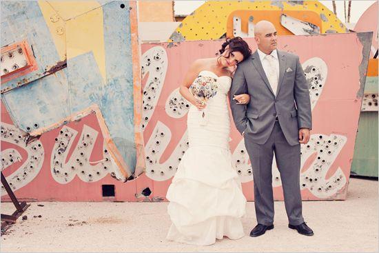 Viva Las Vegas Wedding Shoot at the Boneyard